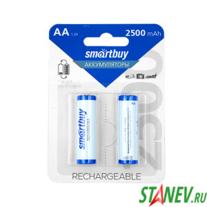 Аккумулятор Smart 2-AA Емкость 2500mAh 1.2V NiMH 2-24