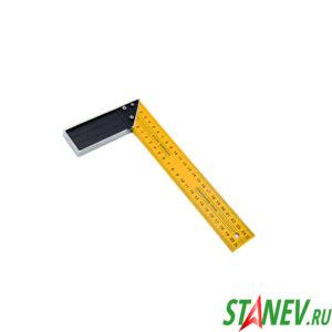 Уголок строительный 90 градусов 250 мм металлический желтый 12-120