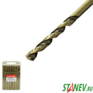 Сверло по металлу кобальт 7 мм спиральное COBALT сталь HSS-CO 5 10-100