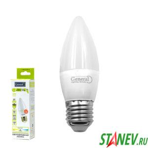 СF Лампа светодиодная Свеча-Е27 12Вт 4500К естественный белый свет General 10-100
