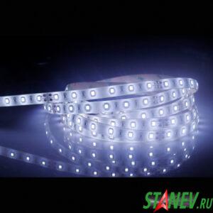Лента светодиодная SMD 5050 люкс 5 метров 20W 12В IP20 белый холодный свет 6000К  1-50