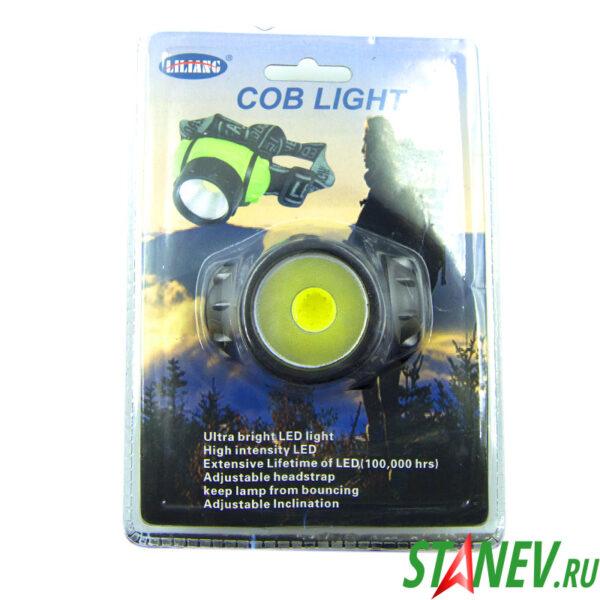 Налобный фонарь светодиодный 1 Вт COB 3 режима 3хAAA на батарейках 30-120