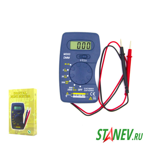 Мультиметр цифровой М300 портативный карманный STANdart luxe 1-100
