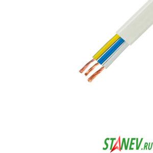 Провод электрический ПУГНП 3 х 2.5 кв.мм белый трехжильный ТУ бухта 200м