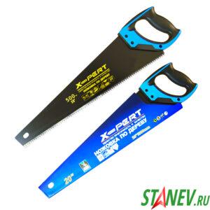 Ножовка по дереву РР 500 мм резиновая рукоять X-PERT 6-48