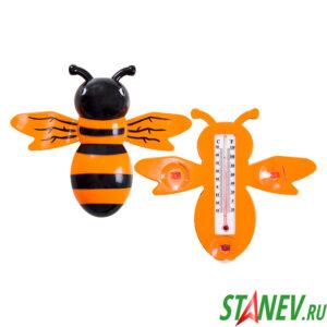 Термометр уличный оконный на липучках ПЧЕЛКА 50-100