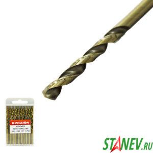 Сверло по металлу кобальт 4.2 мм спиральное COBALT сталь HSS-CO 5 10-100