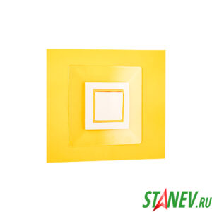 Накладка рамка под выключатель и розетку прозрачная люкс ЮЛИГ.735212.410-01 для защиты обоев 20-280