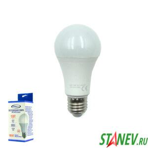 А60 Лампа светодиодная Е27 13Вт 6000К холодный белый свет Standart luxe 10-100