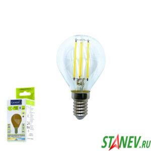 Лампа филаментная Шар-Е14 8Вт светодиодная 4500K естественный белый свет 1-10