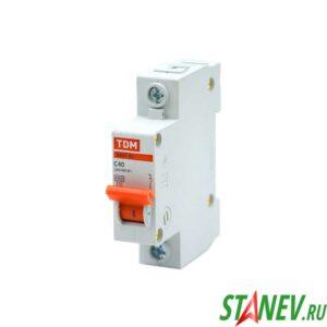 Автоматический выключатель ВА47-63 1Р 40А ТДМ 12-120