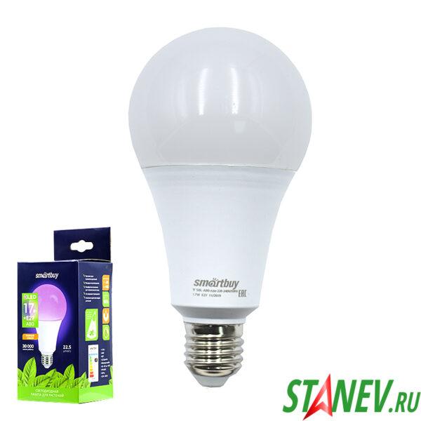 ФИТОлампа Светодиодная лампа для растений Е27 17Вт А80 LED Смарт 1-10
