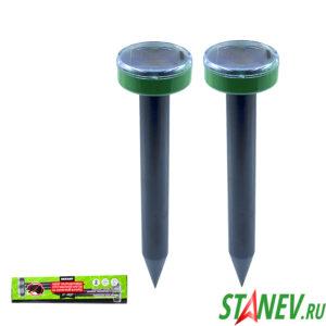 Ультразвуковой отпугиватель кротов Набор R20 солнечная батарея REXANT 1-24