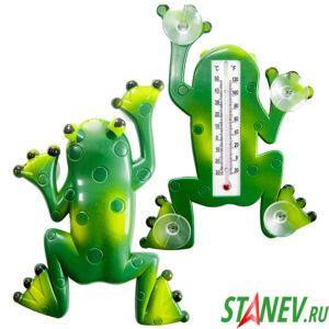 Термометр уличный оконный на липучках ЛЯГУШОНОК 36-72