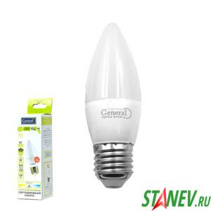 СF Лампа светодиодная Свеча-Е27 15Вт 4500К естественный белый свет General 10-100