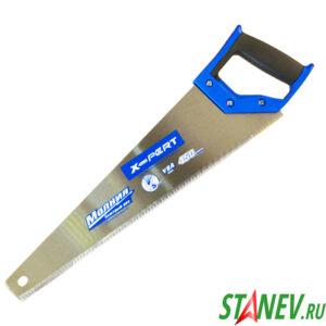 Ножовка по дереву МОЛНИЯ 450 мм 5TPI сталь У8А 6-48