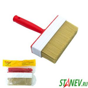 Кисть Макловица 150 мм для обоев и грунтовок пластиковая ручка 12-288