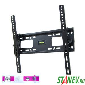 Наклонный кронштейн для телевизора SH 64T настенный с уровнем 30 - 60 до 60кг VESA 1-10