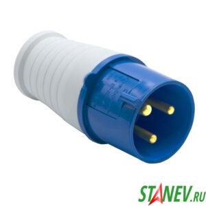 Силовая вилка переносная ВП1с кабельная 1 фазная 3*32А/220В 1-10