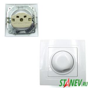 KERAMA-S Выключатель диммируемый c-у 500Вт 3А белый С-16 10-200