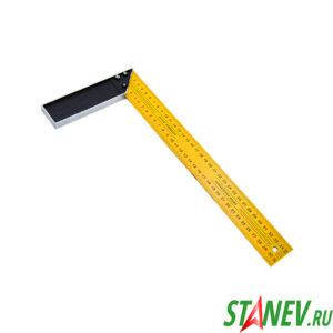 Уголок строительный 90 градусов 350 мм металлический желтый 12-120