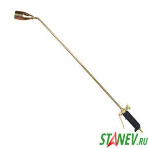 Кровельная газовоздушная горелка ГВ-100см-Ф с регулятором и фиксатором на ручке 2-50