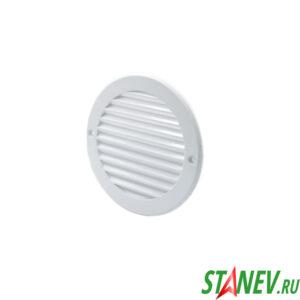 Решетка вентиляционная с фланцем круглая d100 D136 белая пластиковая с сеткой ТДМ 5-50