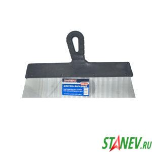 Шпатель фасадный 350 мм нержавеющая сталь пластиковая ручка 10-60