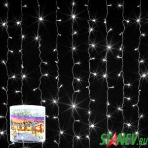 Гирлянда комнатная ЗАНАВЕС 3мх2м белый 320 LED с контролером 1-60
