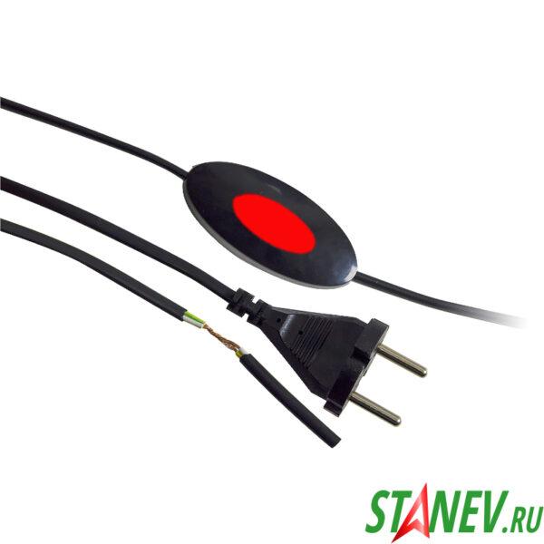 Шнурок для бра с выключателем Макел сетевой 1.7 м черный Vi-tok 10-160