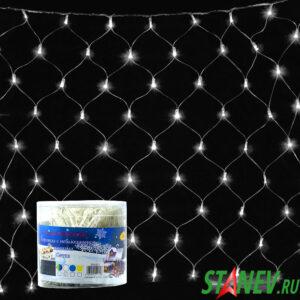 Гирлянда комнатная СЕТКА 200 LED белая с контроллером 1,8мХ1,8м  1-60
