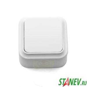 АКВА-белый Выключатель А56-224 влагозащищенный IP54 накладной 2кл для ванной и туалета 1-60
