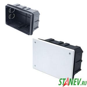 СП Коробка разветвительная 160х100х70 для скрытого монтажа с крышкой IP20 PlastElectro 10-26