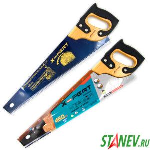 Ножовка по дереву ДР 450 мм каленный зуб деревянная ручка с накладкой X-PERT 6-48