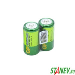 Батарейки GP GreenCell 2 спайка R14 2-24-480