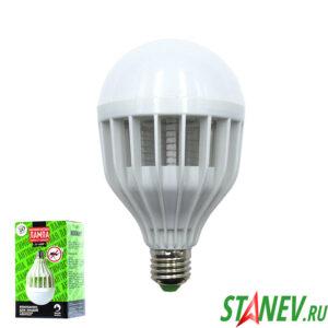 Антимоскитная лампа от насекомых в цоколь Е 27 10Вт R20 2 режима REXANT 1-50
