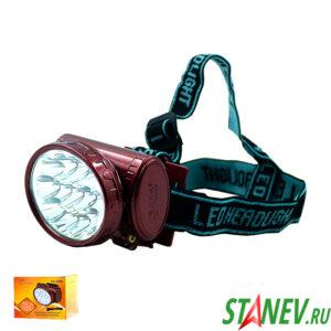 Налобный фонарь АКБ YJ-1898 аккумуляторный 1COB 3W 2 режима  1-100