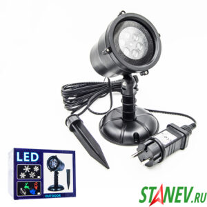 Лазерный проектор Уличный 50 м разные фигуры 1-24