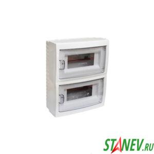 BYLECTRICA Бокс распределительный КНО-16Д наружной установки навесной на 16 автоматов IP20 1-8