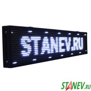 Бегущая строка табло белый LED табло 100х20см 1-5