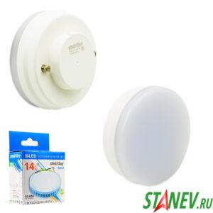 Лампа светодиодная tablet GX53 14Вт 3000К теплый cвет Smart 1-10