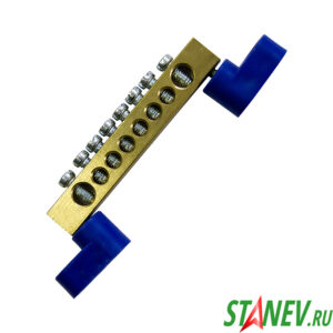 Шина нулевая на лапках 1х8 угловые изоляторы 20-400-500