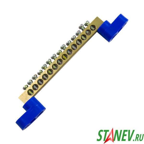 Шина нулевая на лапках 1х14 угловые изоляторы 20-200-300