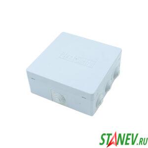 ОП Коробка распаечная 120х120х50мм открытого монтажа IP54 9 вводов PlastElectro 10-42