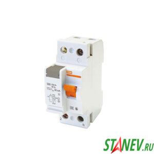 Устройство защитного отключения электронное УЗО ВД63 2Р 25А 30мА ТДМ 1-6