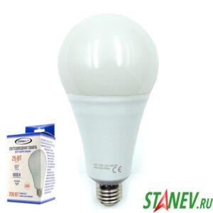 А95 Лампа светодиодная Е27 25Вт 6000К холодный белый свет Standart luxe 10-50