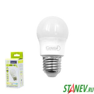 G45F Лампа светодиодная Шарик-Е27 10Вт 4500К естественный белый свет General 10-100