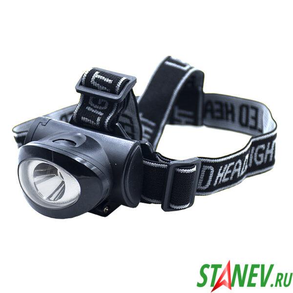 Налобный фонарь светодиодный HEADLIGHT 8228A батарейки 3хААА 1-60-240