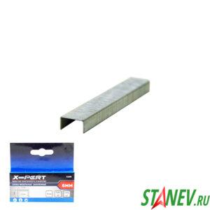 Скобы для мебельного степлера 53 тип 6 мм закаленные 1000 шт в пачке X-PERT 20-200