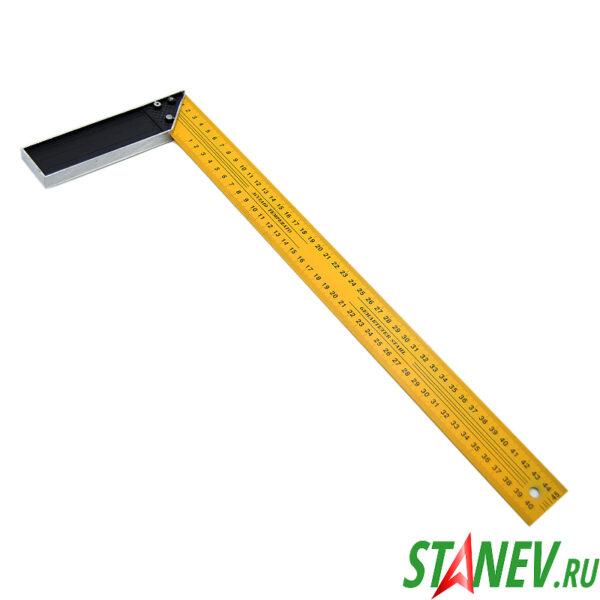 Уголок строительный 90 градусов 450 мм металлический желтый 12-120